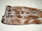 Pretty nature light brown color 100% Malaysia remy hair weave/ virgin Malaysia remy hair weave