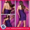 YD-12061121 One Strap Organza Mini Purple Dress