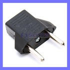 Portable black Power Converter US to EU Jack Adapter