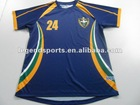 005 Blue New Style Polyester Soccer Kits