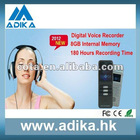 Wholesale Newest Voice Recorder 8GB With 180 hours Recording Time ADK-DVR009