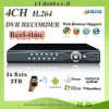 3G Mobile Phone View H.264 Network DVR(D2104A)