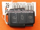 VW 3 Button Remote Control 753 DF (Brand New & Original)