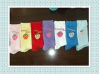 latest sweet candy colour cheap OEM socks