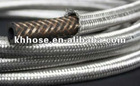 SAE J1532 stainless steel wire braided reinforced rubber high temperature engine coolant hose