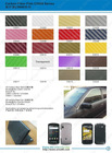 Carbon fiber vinyl sticker C5000 series catalogue