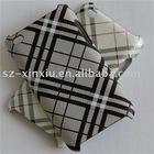 Wholesale fast delivery tartan pattern leather skin case for iPod Touch4g leather hard case