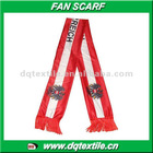 100% knitted polyester Austria flag Fan Scarf