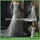 Hot Sale Beaded With Applique Satin Wedding Dresses In Dubai