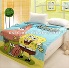 Fleece blankets with cartoon print