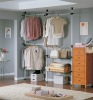 save space! Indoor Commodity garment rack