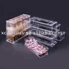 3-drawer acrylic food bin storage box