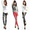 faux leather leggings/hot sell/high elasticity