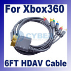 1.8m Component HD AV Cable for Xbox 360