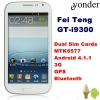 Android 4.1.1 MTK6577 Smart Bar Phone GT-i9300 with Dual Sim Cards Bluetooth GPS