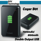 Cager B01 7200mAh portable power bank for iPad iPhone HTC Sumsung MP3 MP4 PSP GPS digital device mobile power bank