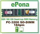 DDR 400 1GB Desktop RAM Memory