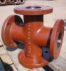 Ductile cast iron fitting-All flanged cross