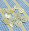 four holes natural white sea mother of pearl shell button
