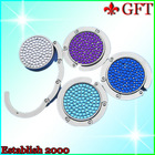 Christmas Gift !! Round Gem Purse Hanger For Table GFT-BH-B0010