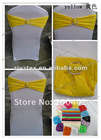 yellow spandex chair band with diamond buckle for chair cover weddings