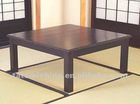 Amtique Black Wooden Traditional Japanese Tea Table With Low Legs