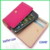 Wholesale - Wallet PU Leather case for Apple iphone 4 4S smart pouch card holder bag for Samsung Galaxy s2 HTC