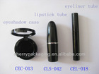 cosmetic plastic lipstick tube,liquid eyeliner container,eyeshadow case OEM