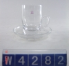 best selling transparent glass coffee cup