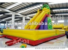 climb moutain with slide
