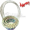 2011 Newest Natural Colorfull Bamboo Hanging Basket