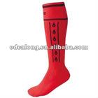 Custom New Design Mens 100% Cotton Knee High Football Sock