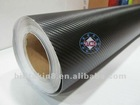 Carbon fiber sticker without air-drain