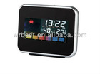 desk alarm clock with humidity and temperature display