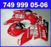 ABS Motorcycle Fairings kit For Ducati 749 / 999 2005 2006 Years Sportbike