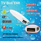 Google Android 4.0 TV Box 1080P Online TV E68