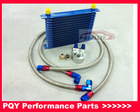 15 ROW AN-10AN UNIVERSAL ENGINE OIL COOLER KIT + ALUMINUM HOSE END KIT