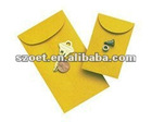 kraft paper coin envelope with logo printed