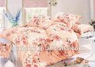 100% Cotton microfiber peach printed 4pcs home textile bedding set