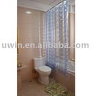 Eco-friendly 3D EVA Shower Curtain,plastic curtain
