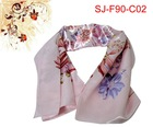 2011 new design satin scarf,90*90cm,silk scarf