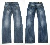 Hot sell men' washed denim pant