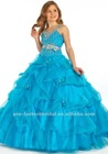 GD1219 Cute Custom-Made Ball-Gown Halter Sweetheart Heavy Beaded Sequins Fashion Girls Party Dresses