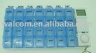 7 days pill box timer, weekly pill box, 7 day pill dispenser HC-91002