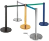 metal retractable belt stanchion AD-cb