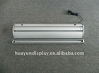 Electric roll up banner stand