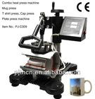 CE Approved swing combo heat press machine