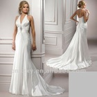 2012 Latest New Arrival Halter A line V neckline Beaded sexy Gorgeous Wedding Dresses