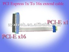 PCI Express 1X TO 16X pci-e riser card flex ribbon cable