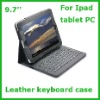 9.7inch tablet PC leather keyboard case